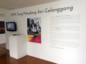 Apin: Sang Petualang dari Gelanggang, Pameran Karya dan Arsip Mochtar Apin, April 2014, Selasar Sunaryo Art Space